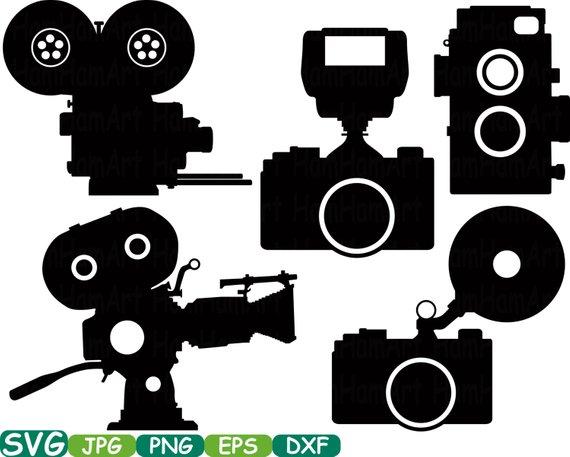 Cutting file svg monogram. Camera clipart old school