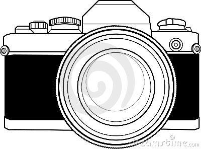 Clipart camera line art. Old free vintage clip