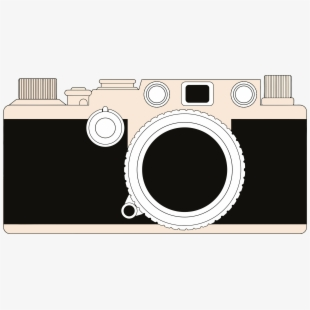 Photo fashioned clip art. Camera clipart old time