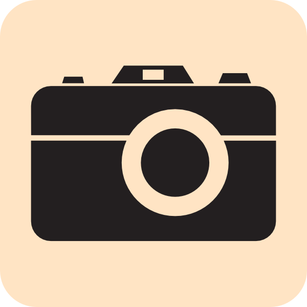Camera clipart outline. Beige clip art at