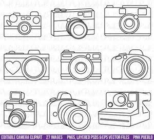 Camera clipart outline. Clip art bing images