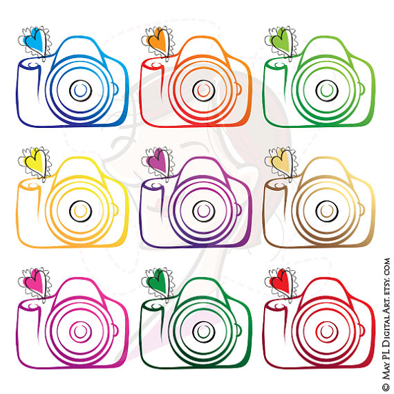 Camera clipart photographer. Photography diy business logo