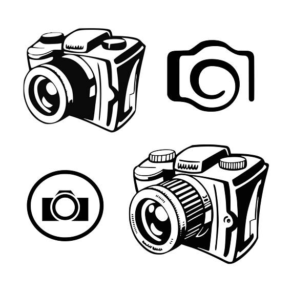 Camera clipart photographer. Svg photography flash cut