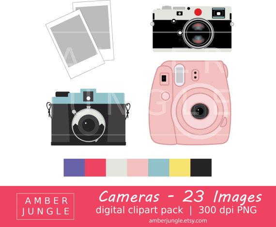 Instant download clip art. Camera clipart polaroid camera