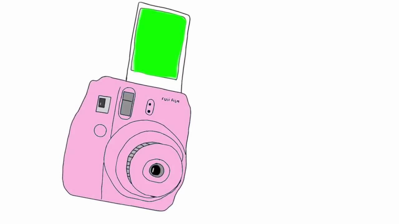 Camera clipart polaroid camera. Green screen valeria edits