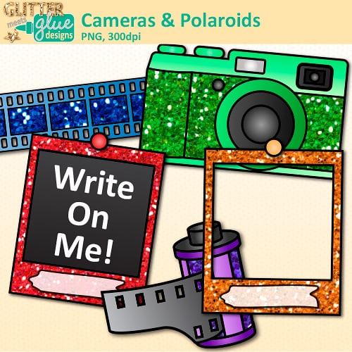 Camera clipart polaroid camera. And teacher clip art