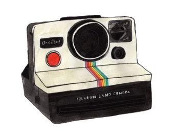 . Camera clipart polaroid camera