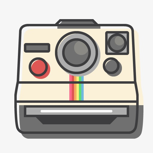 Polaroid clipart. A camera cartoon png