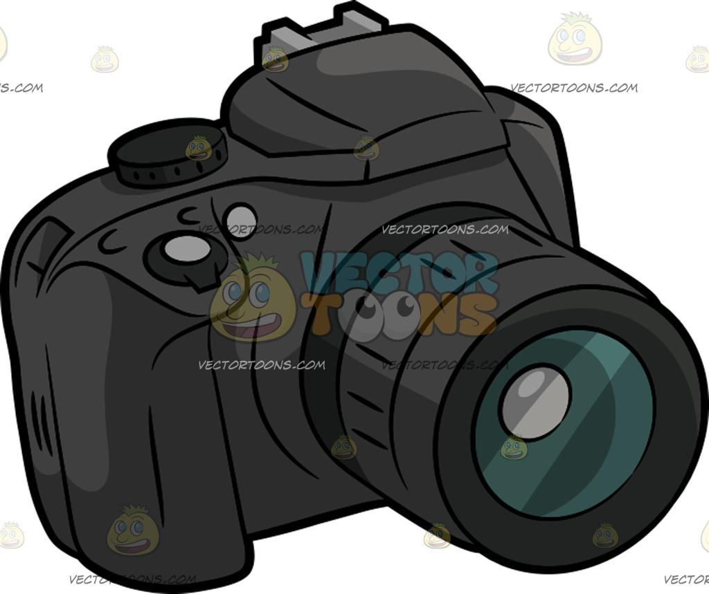 Camera clipart professional camera. Dslr drawing at getdrawings