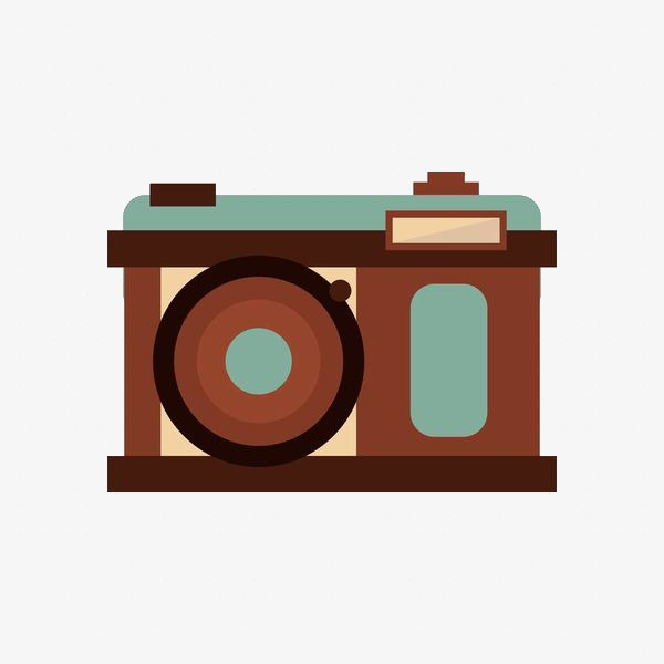 Style stroke png image. Camera clipart retro camera