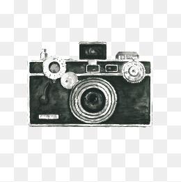 Vintage png vectors psd. Camera clipart retro camera