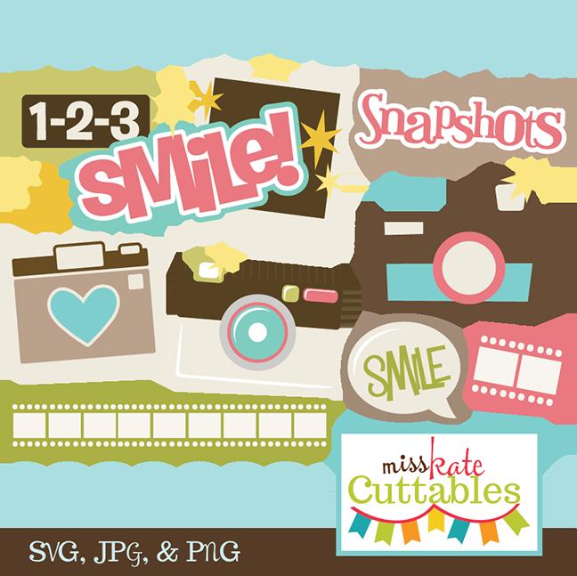 Smile svg title file. Camera clipart scrapbook