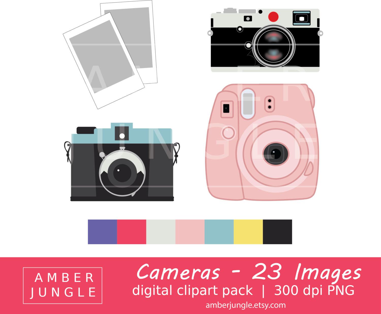 Instant download clip art. Camera clipart scrapbook