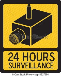 Illustration of cameras icons. Camera clipart security camera