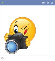Camera clipart smiley face. Photographer symbols emoticons