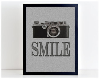 Smile quotes etsy vintage. Camera clipart snapshot