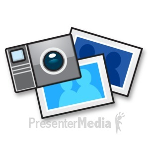 Stick figure taking pictures. Camera clipart snapshot