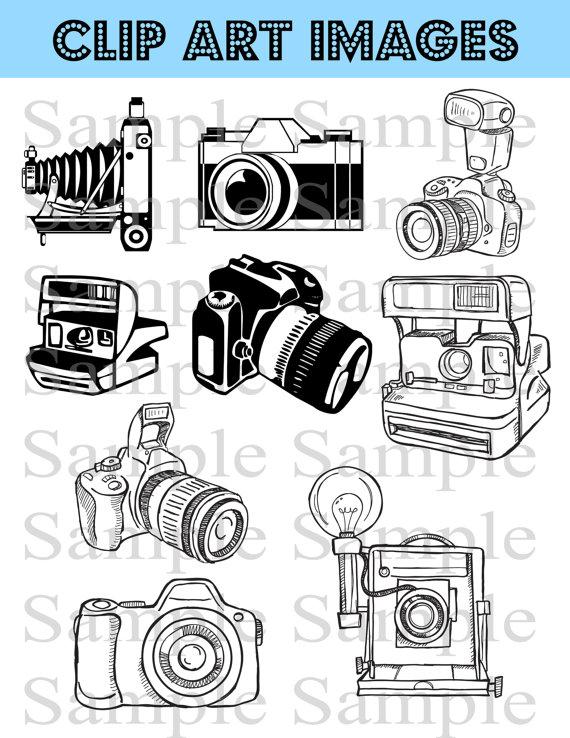 Clip art instant download. Camera clipart template