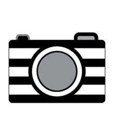 Camera clipart template. Free photography printables retro