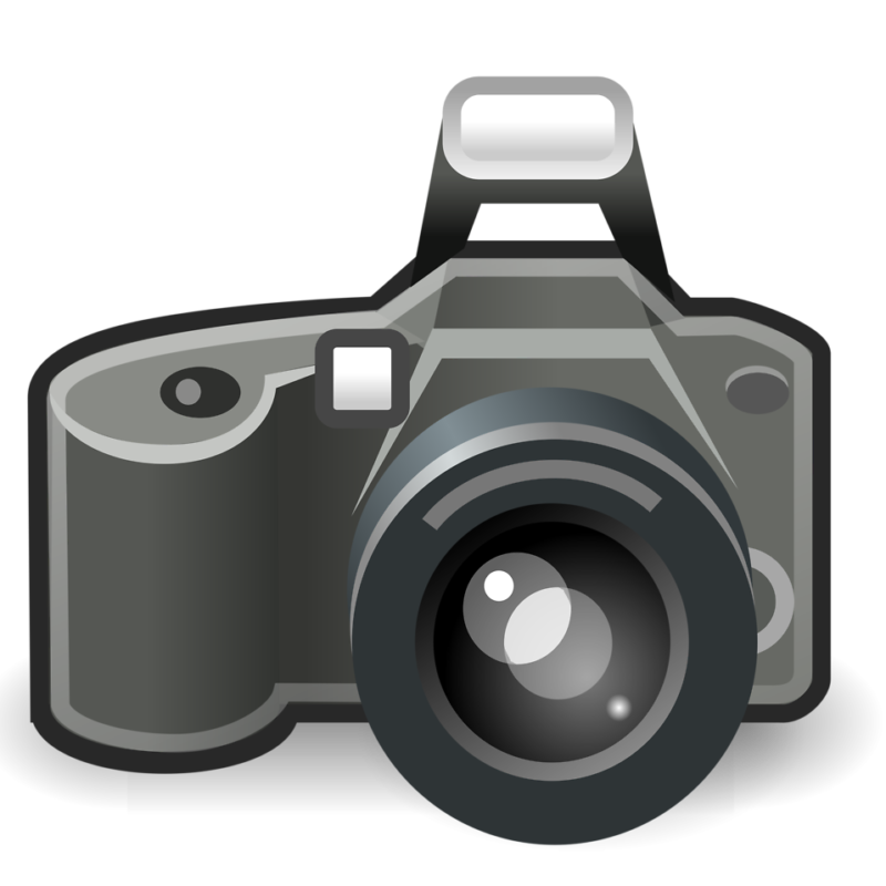 Camera clipart transparent background. Free black and white