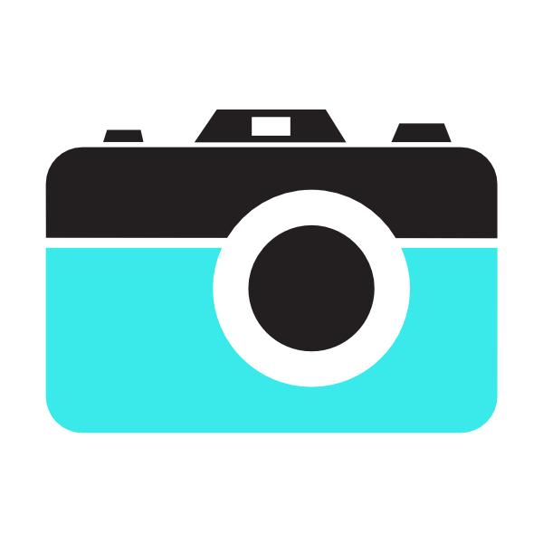 Icon clip art at. Camera clipart vector