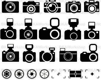 Camera clipart vector. Etsy svg digital for