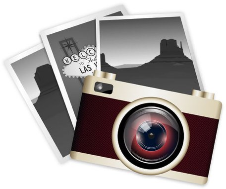 Free vintage and graphics. Camera clipart vector