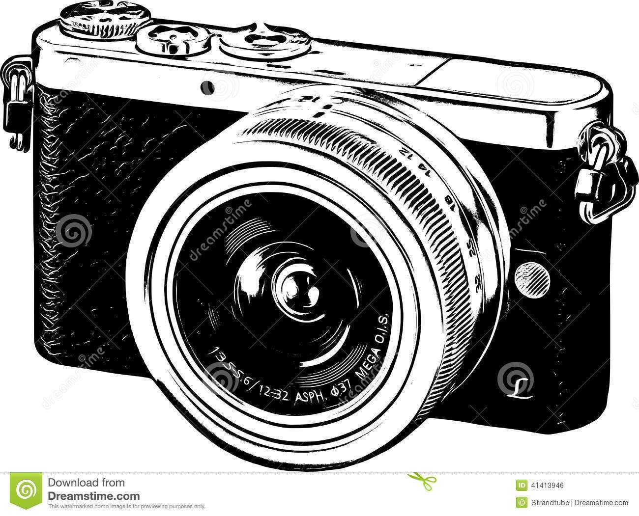Clip art black and. Camera clipart vintage camera