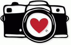 Black and white free. Clipart camera