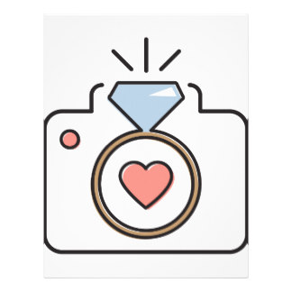 Pencil and in color. Camera clipart wedding