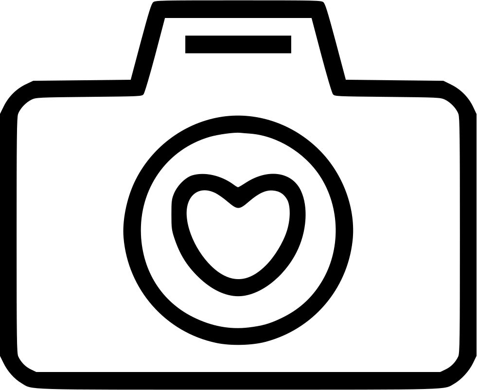 Love heart svg free. Camera png icon