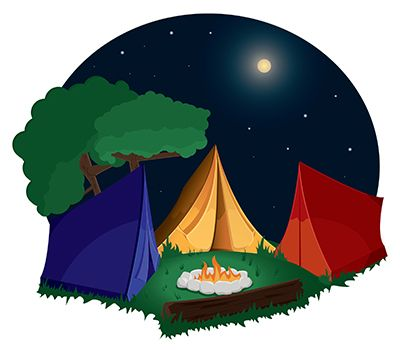 Camp clipart. Free indoor camping cliparts