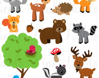 Camp clipart animal. Forest etsy animals svgs