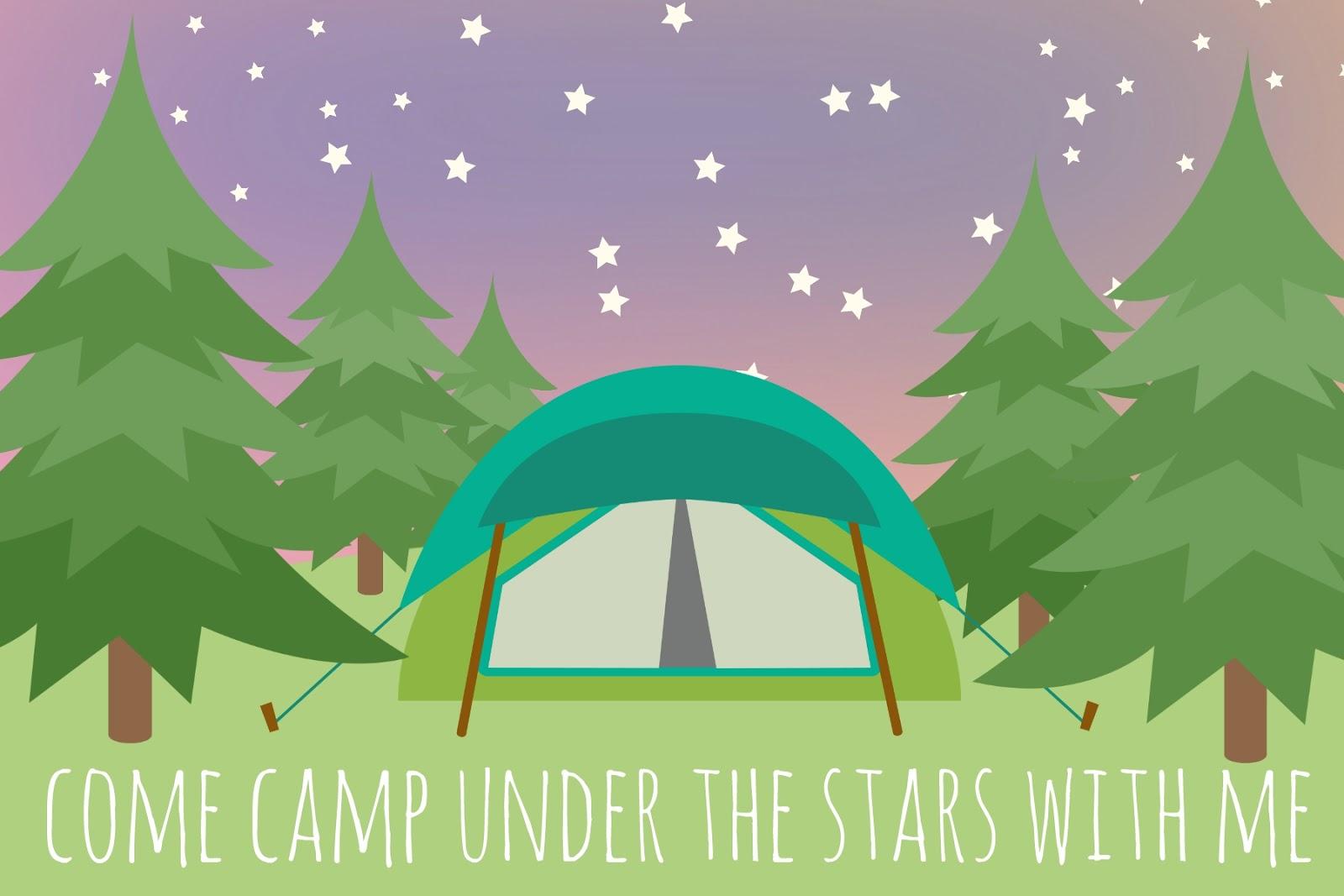 Restlessrisa invitation. Camping clipart backyard camping