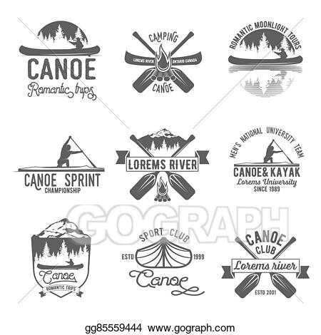 Camp clipart badge. Clip art vector set