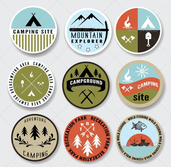 Camp clipart badge.  best mihiw images