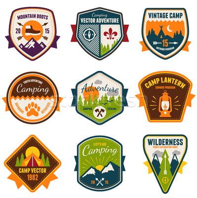 Stock graphics vintage summer. Camp clipart badge