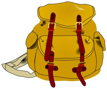 Camp clipart bag.  best camping out