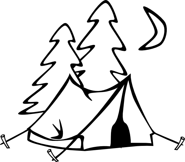 Camping kid pinterest. Wow clipart black and white