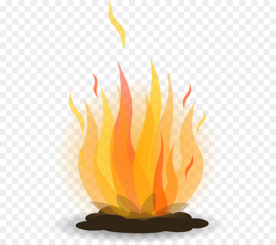 Flame campfire camping illustration. Bonfire clipart