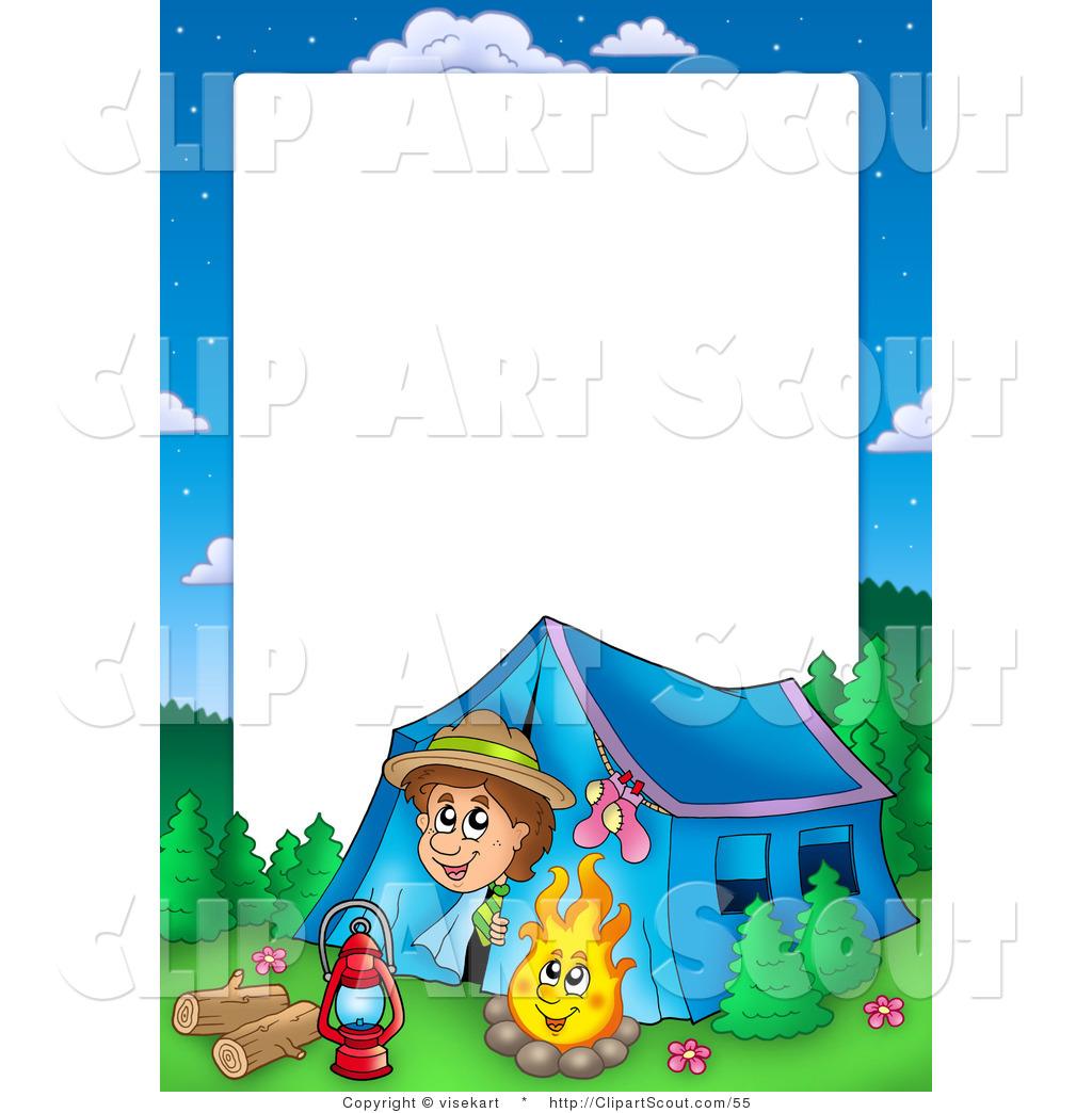 Camp clipart border. Summer panda free images
