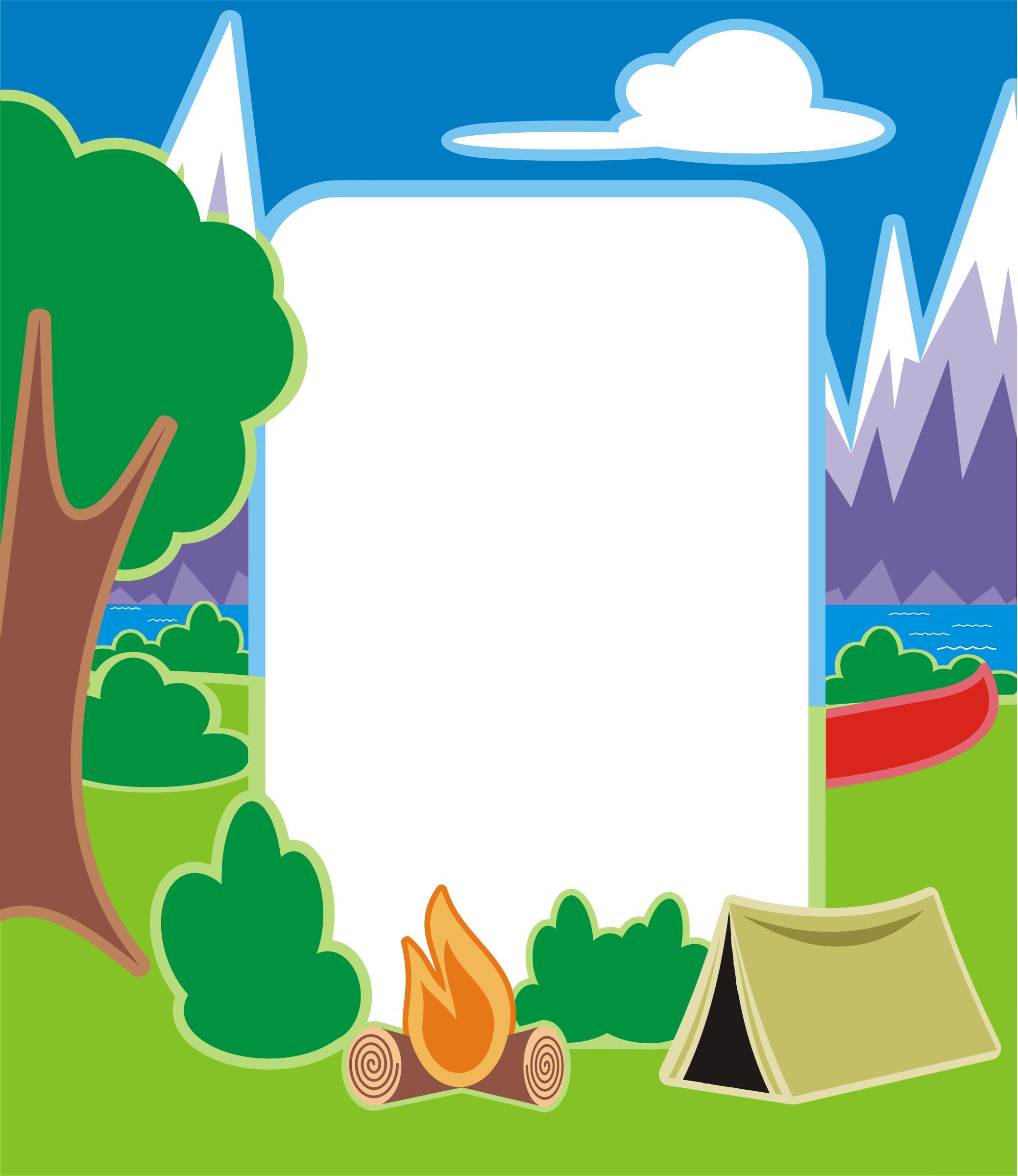 Camp clipart border. Sign big image png