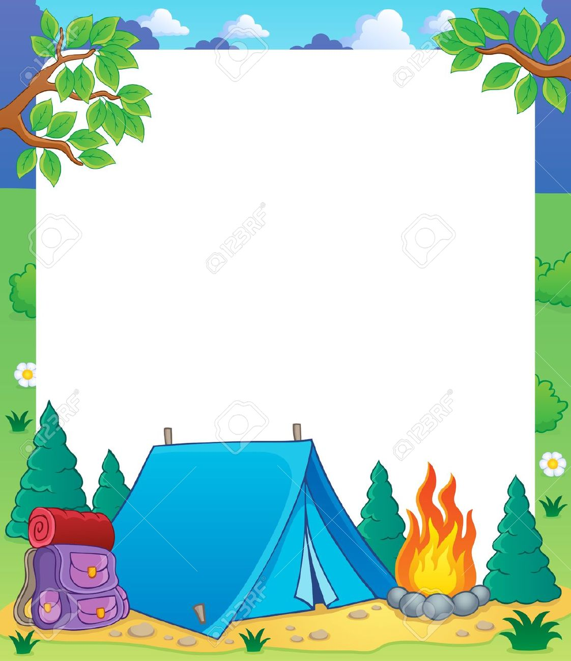 collection of free. Campfire clipart border