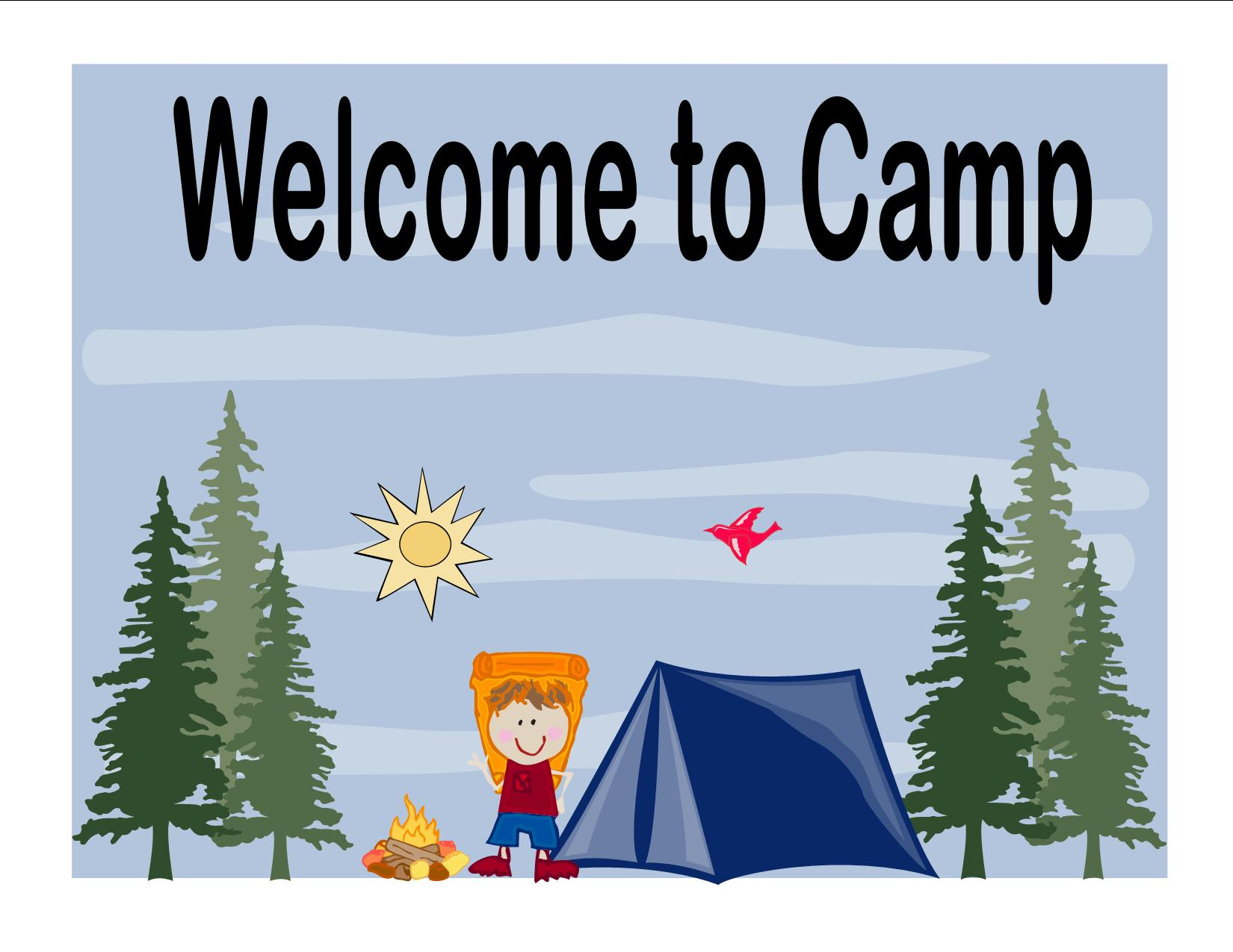 Camp clipart camp sign. Preparing for summer archives