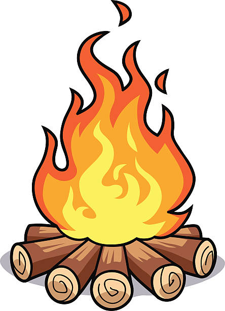 Camp fire image clipartix. Camping clipart campfire