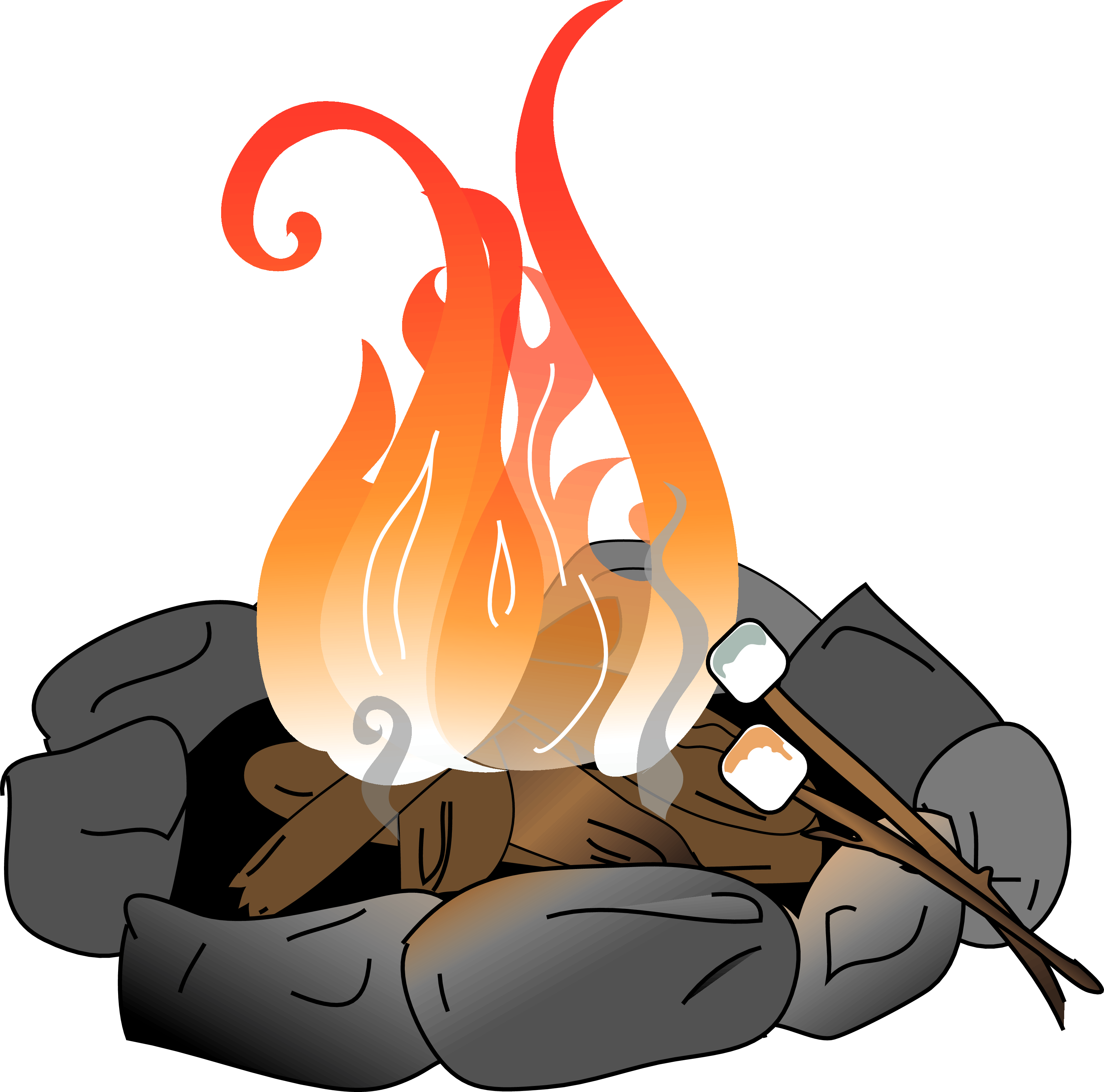Heat clipart hot man. Camp fire pit pencil