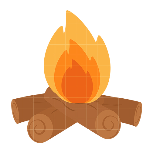 Camp fire clip art. Campfire clipart cute