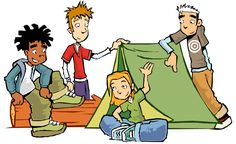 Camp clipart childrens. Family camping free buy
