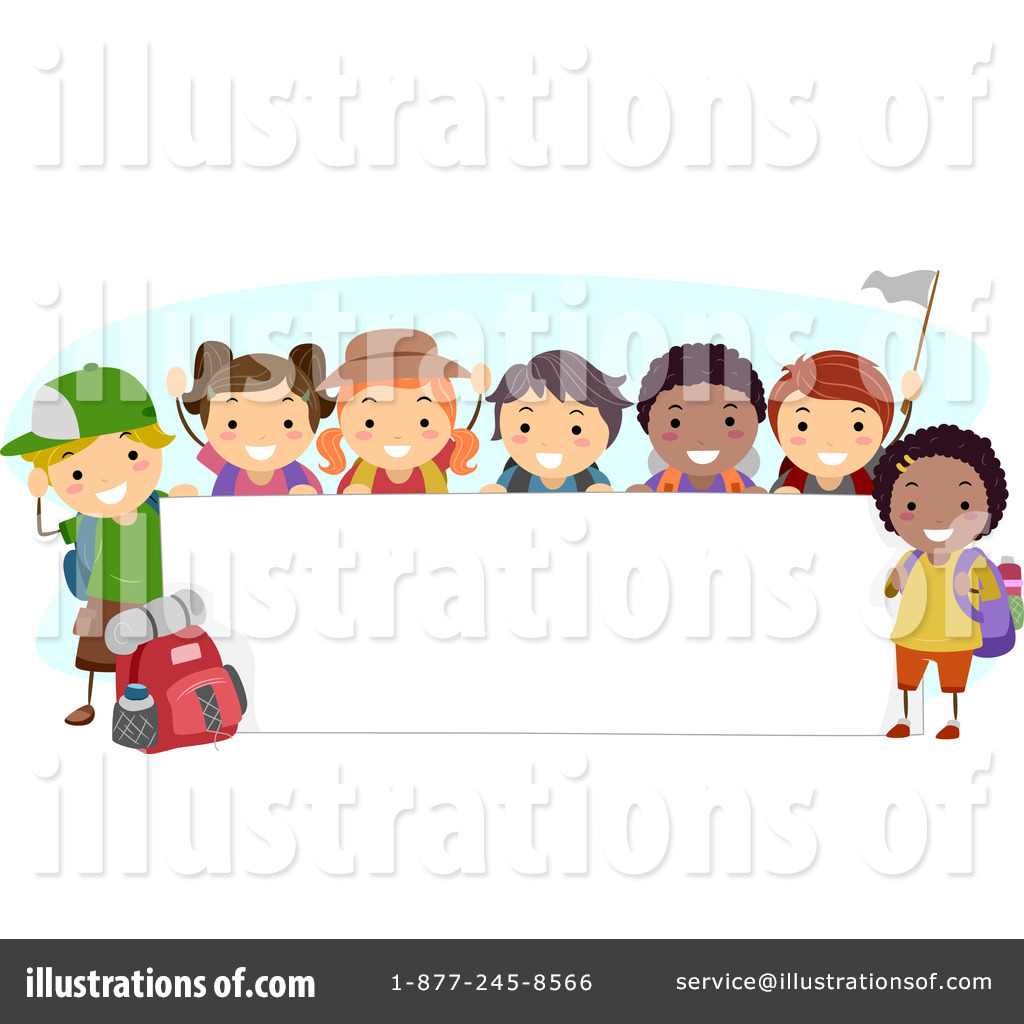 Camp clipart childrens. Summer illustration by bnp