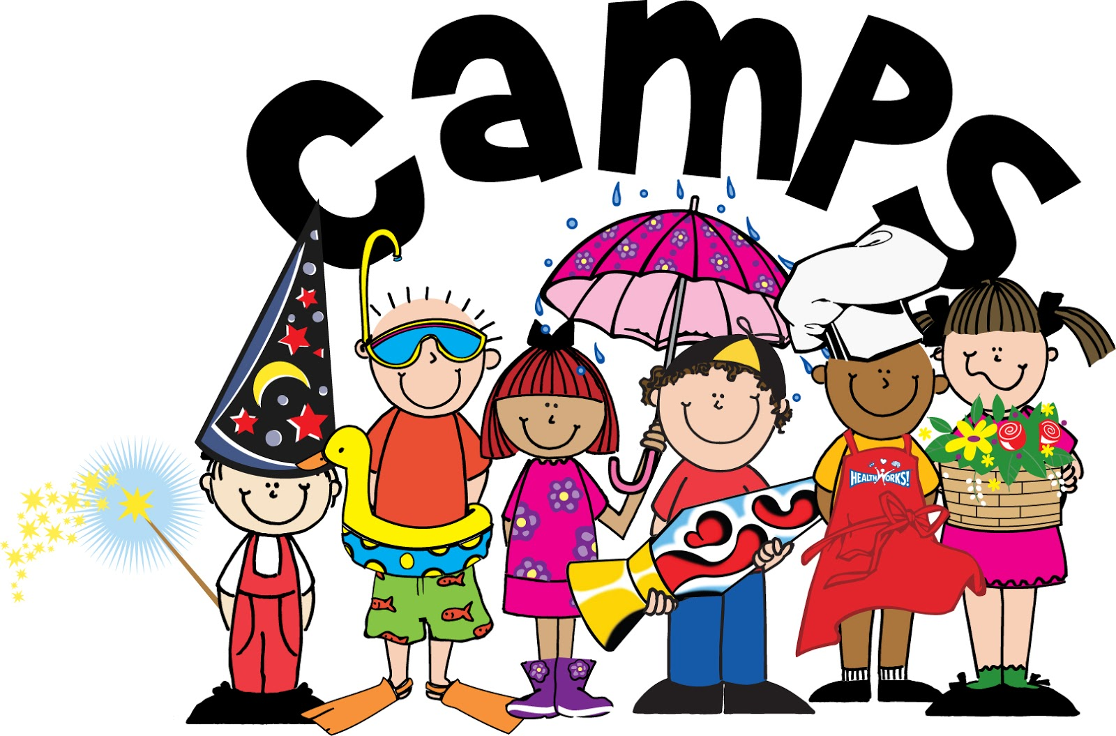 Summer camps for children. Camp clipart childrens